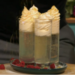 Simon Rimmer champagne trifle with raspberries on Sunday Brunch