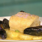 Simon Rimmer butter poached cod with mussels recipe on Sunday Brunch