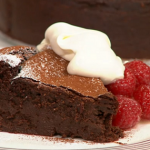 Simon Rimmer chocolate and cognac cake recipe on Sunday Brunch