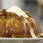 James Martin pound cake with a Mexican sauce and ice cream recipe