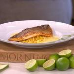 James Martin cajun sea bass with corn and butter sauce recipe on This Morning
