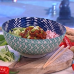 Ching's ten minute noodles with baby leeks recipe