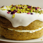 Sophie Michell Pistachio Cake With Rosewater Icing recipe on Sunday Brunch