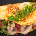 Linia Patel vegetable and feta cheese omelette recipe on Get A Holiday Body