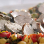 Jamie Oliver pork with Swiss chard and chickpea stew recipe