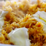 Jamie Oliver baked saffron rice with yoghurt recipe