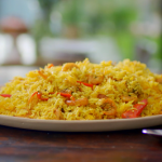 Nadiya Hussain prawn saffron biryani recipe