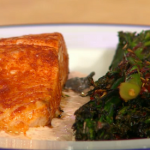 Simon Rimmer salmon with broccoli recipe on Sunday Brunch