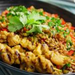 Jeremy Pang Chicken Satay With Freekeh Nasi Goreng recipe