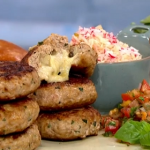 Phil Vickery melt-in-the-middle turkey burger recipe on This Morning