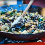 Nonna Vita homemade pasta with aubergine and black chickpea sauce recipe on Jamie Cooks Italy