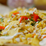 Nadiya Hussain chaat in a bag with onions recipe