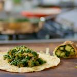 Nadiya Hussain spinach and paneer kati rolls