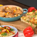 Phil Vickery and Jayden's salmon stir-fry and Spanish omelette recipe on This Morning