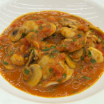 Marcus Wareing pork-filled ravioli with a chasseur sauce recipe on MasterChef: The Professionals