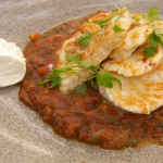 Marcus Wareing monkfish tail with a spicy tomato and roasted onion sauce recipe on MasterChef: The Professionals