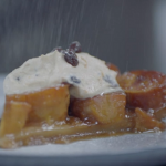 Liam's plantain tarte tatin with rum and raisins recipe