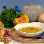 Isaac Carew pumpkin soup recipe on This Morning