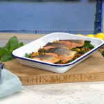 Phil Vickery salmon with pumpkin gnocchi and roasted peppers recipe on This Morning