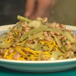Theo Randall Tagliarini With Brown Shrimps And Artichokes recipe on Sunday Brunch