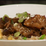 Simon Rimmer sticky pork with egg fried rice recipe on Sunday Brunch