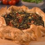 Joe Wicks red pepper and feta filo vegetarian pie recipe on Lorraine