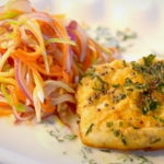 Ainsley Harriott mustard fish with mango chilli chow recipe on Ainsley's Caribbean Kitchen