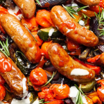 Simon Rimmer Roasted Veg With Smoked Garlic And Sausages recipe on Sunday Brunch