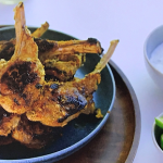 Parveen Ashraf spicy marinated lamb chops with a mint dip recipe on Parveen's Indian Kitchen