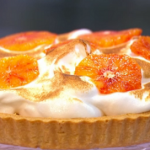 Sophie Michell Blood Orange Meringue Tart recipe on Sunday Brunch