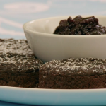 Paul Hollywood chocolate crumpets with cherry jam recipe on The Great Celebrity Bake Off for SU2C