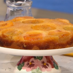 John Torode peach upside down cake with custard recipe on This Morning Sunday Bake