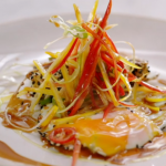Jamie's Asian fried eggs with sesame seeds and hoisin sauce recipe on Quick & Easy Food