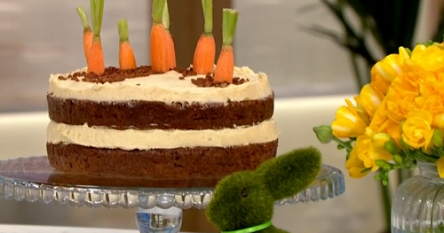 Juliet Sears carrot patch cake recipe for Easter on This ...