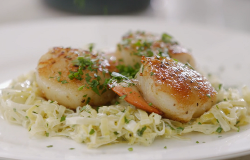 Mary Berry Scallops With Leek And Tarragon Recipe On Mary