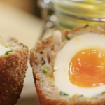 Lisa Faulkner scotch eggs with sausage meat recipe on John and Lisa's Weekend Kitchen
