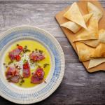 Simon Rimmer Tuna Crudo recipe on Sunday Brunch