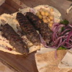John Gregory-Smith Hole-In-The-Wall Beef Skewers recipe on Sunday Brunch