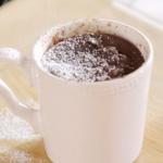 Lisa Faulkner chocolate cake in a mug recipe on John and Lisa's Weekend Kitchen