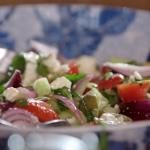 John Torode Greek salad with feta cheese recipe John and Lisa's Weekend Kitchen