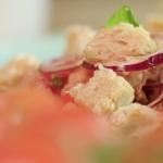 John Torode panzanella recipe on John and Lisa's Weekend Kitchen