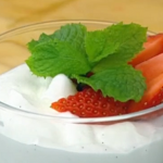Shelina's white chocolate and coconut mousse with marshmallow recipe on John and Lisa's Weekend Kitchen