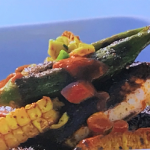 Phil Vickery mahi mahi with sweetcorn and okra recipe on This Morning