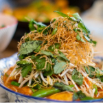 John Torode red Thai curry with crispy noodles and herbs recipe on John and Lisa's Weekend Kitchen