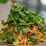 John Torode Asian slaw with creme fraiche and sesame seeds recipe on Lisa's Weekend Kitchen
