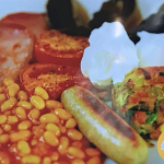 Phil Vickery fry up with chicken sausages and bubble and squeak recipe on Save Money: Good Diet