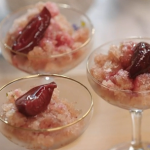 John Torode frappe with slow gin, plums and prosecco recipe on John and Lisa's Weekend Kitchen