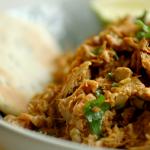 Nadiya Hussain jackfruit curry with speedy naan recipe on Nadiya's Time to Eat