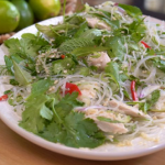 John Torode Thai chicken and glass noodle salad recipe on John and Lisa's Weekend Kitchen