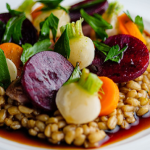 Jason Atherton Pearl Barley Risotto with Game and Autumn Vegetables recipe on Sunday Brunch